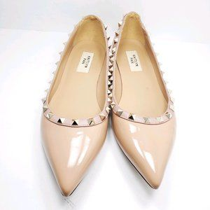 Kaitlyn Pan | Cream Rockstuds Pointed Flat Shoes